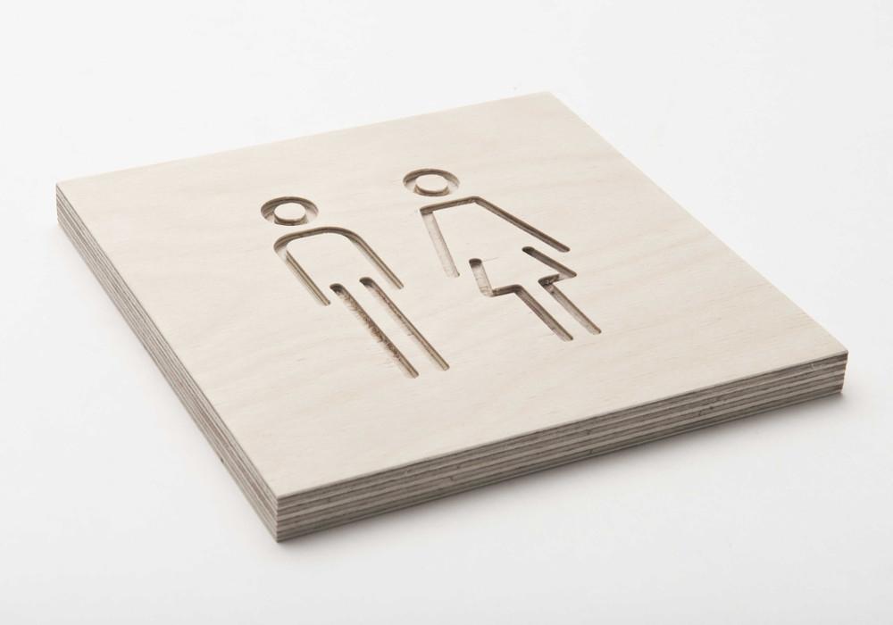 Pictogram toilet dames & heren