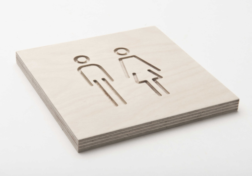 Pictogram toilet dames & heren