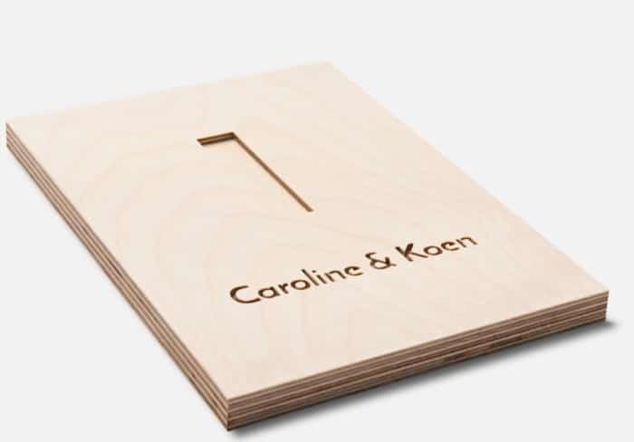 Gepersonaliseerd naambord van hout